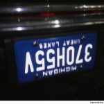 Personalized License Plate.